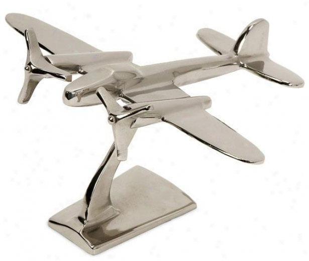 """up And Away Statue - 9""""hx7""""w, Silver"""