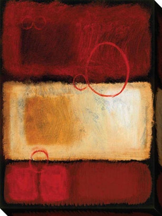 Urban Moment I Canvas Wall Art - I, Red