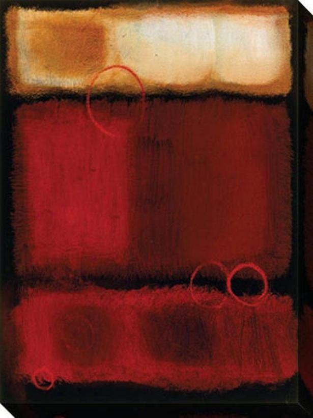 Urban Moment Ii Canvas Wall Art - Ii, Red