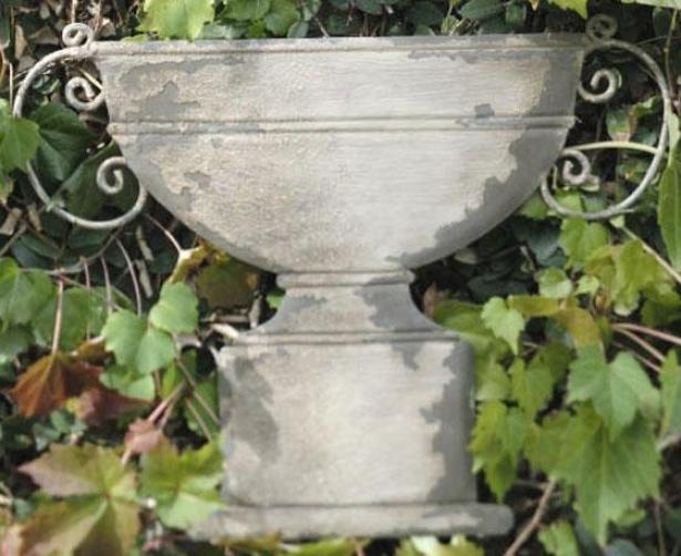 Urn Wall Plaque - Urn, Distress Metal