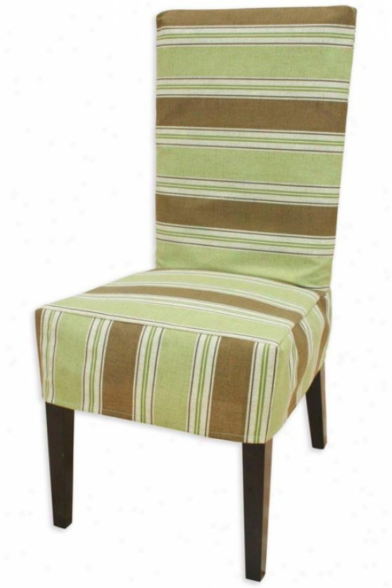 Uzbek Chocolate Collection Parsons Chair Slip Comprehend - Parson Slip Cvr, Landry Stripe