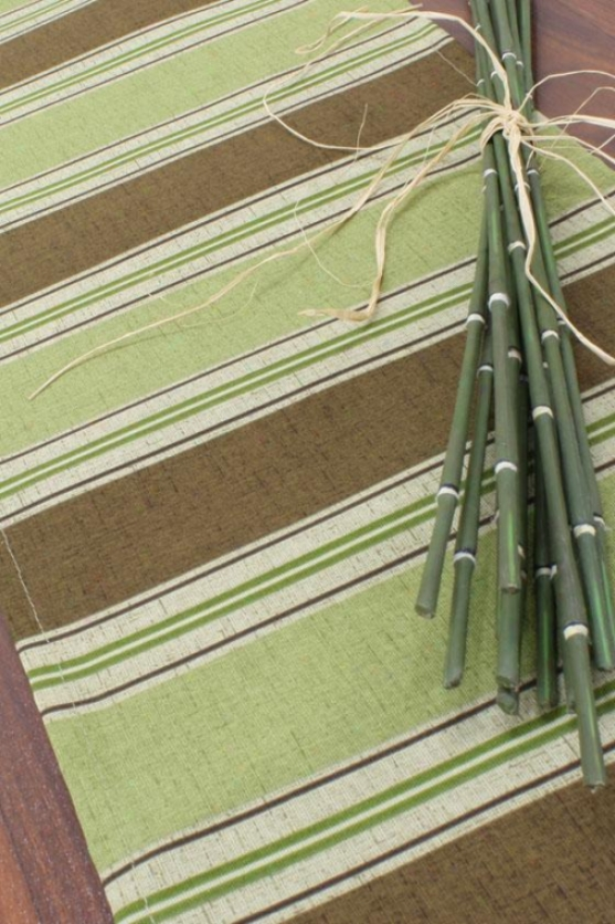 """uzbek Chocolate Collection Table Runner - Table Messenger, 12.5x54""""x, Landry Stripe"""