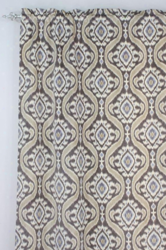 """uzbek Taupe Collection Curtain Panels - Tab Top Unlined Panel, 54x84""""x, Uzbek Taupe"""