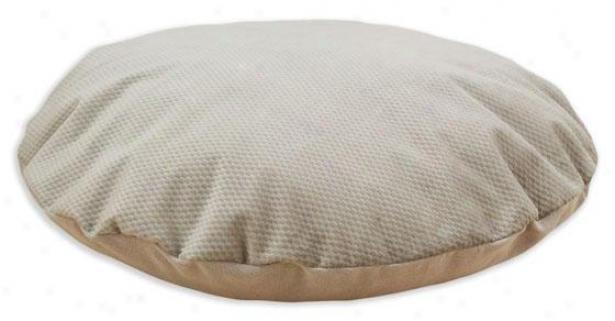 """uzbek Taupe Collection Pet Bed - 36"""" Round, Renegade Cocoa"""