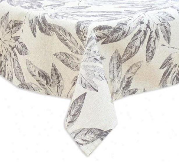 """uzbek Taupe Collection Table Cloth - Tblclth 53x70"""", Hematite Cgarlc"""