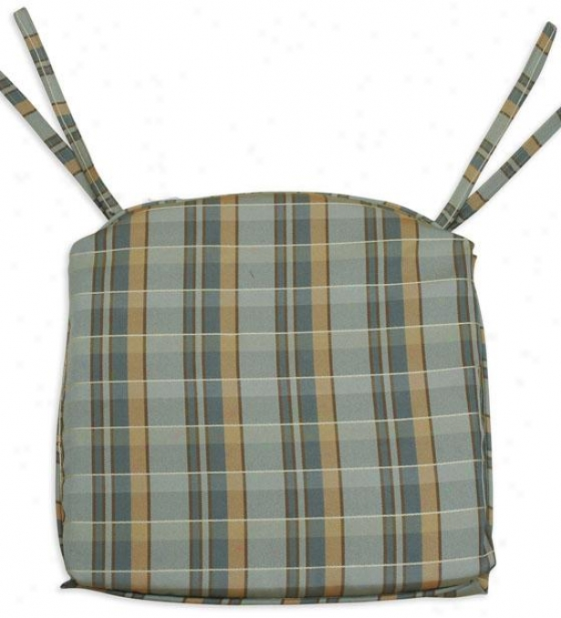 Valdosta Mist Collection Seat Cushions - Foam Corded 17s, Plaid Peacock