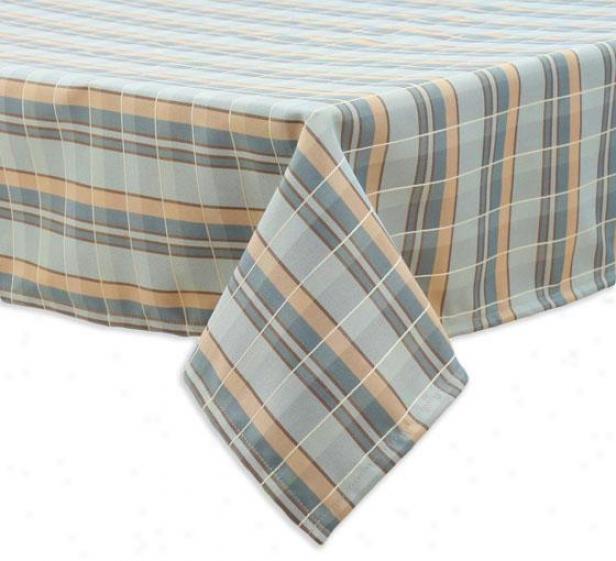 """""""valdosta Mist Collection Table Cloth - Tblclth 54x102"""""""", Plaid Peacock"""""""