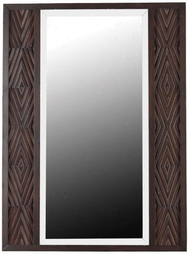 """valencia Wall Mirror - 40h X 30""""w, Maroon"""