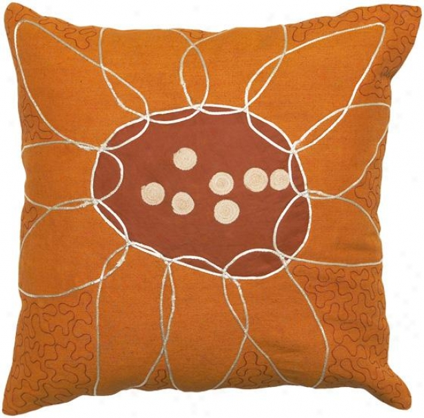 Valerie Decorative Pillow - 18hx18w Poly, Orange
