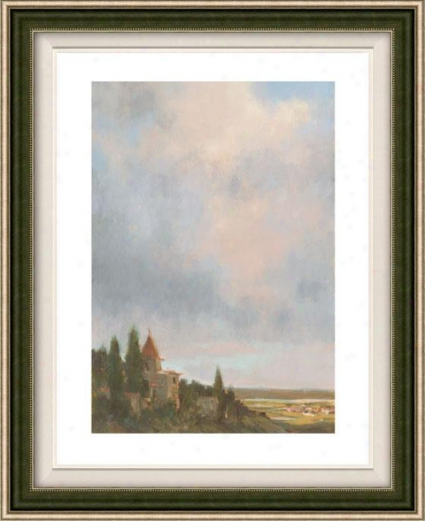Valley Light Ii Framed Wall Art - Ii, Floated Silver