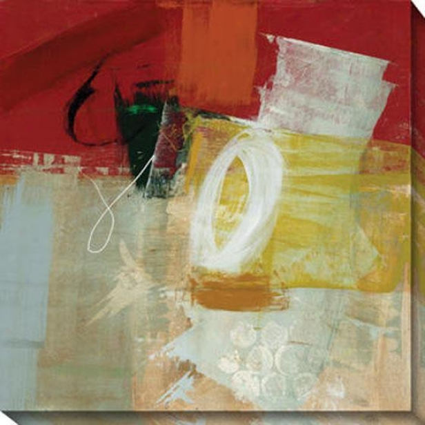 Veiled Memory I Canvas Wall Art - I, Red