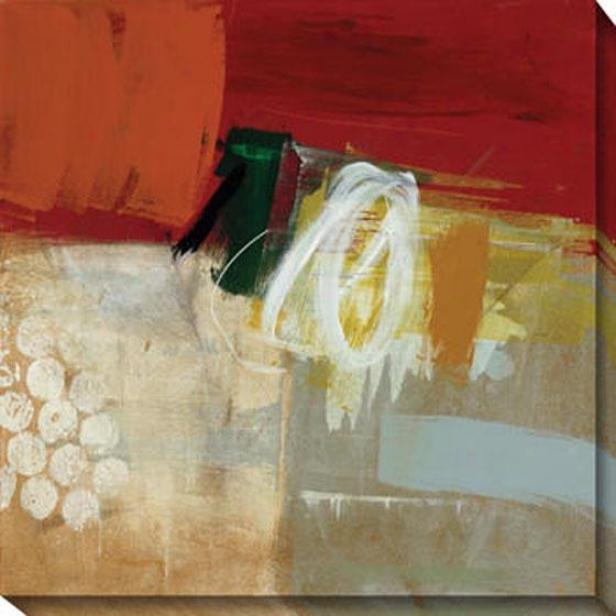 Veiled Memory Ii Canvas Wall Art - Ii, Red