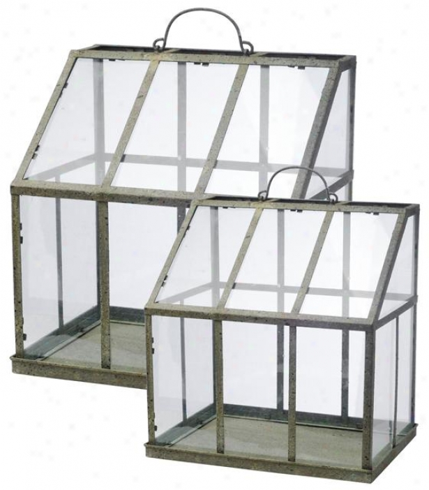 Vera Greenhouse - Set Of 2 - Set Of 2, Clear