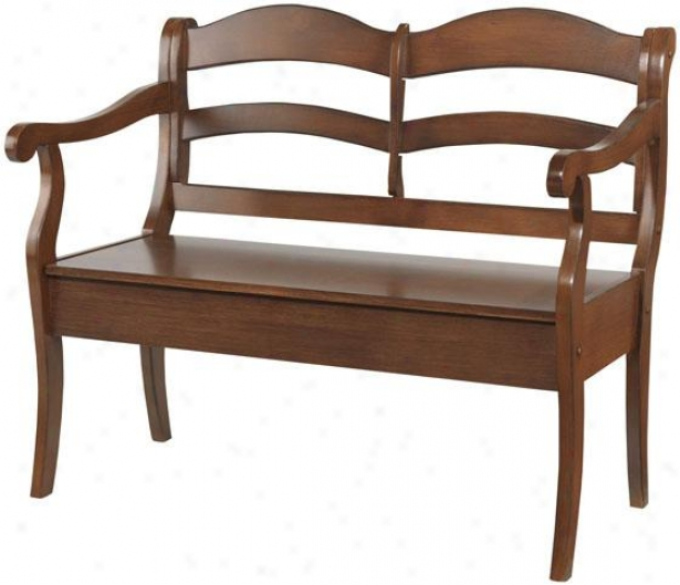 """verona Double Bench With Storage - 43wx23dx37.5""""h, Brown"""