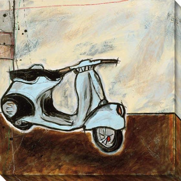 """vespa Canvas Wall Art - 40""""hx40""""w, White"""