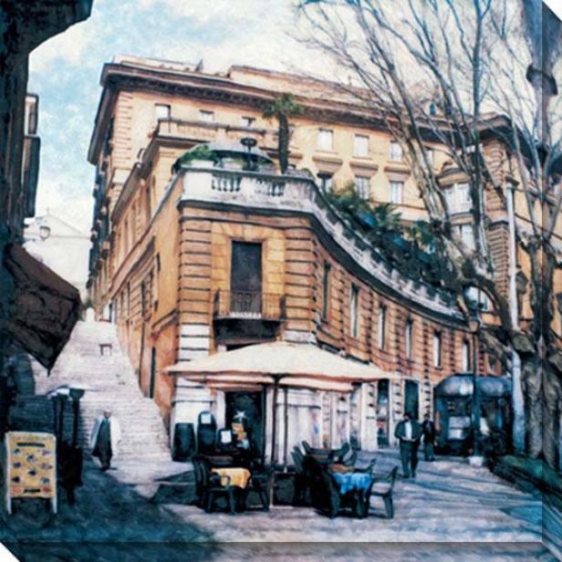"""""""via Venetto Canvas Wall Art - 40""""""""hx40""""""""w, White"""""""