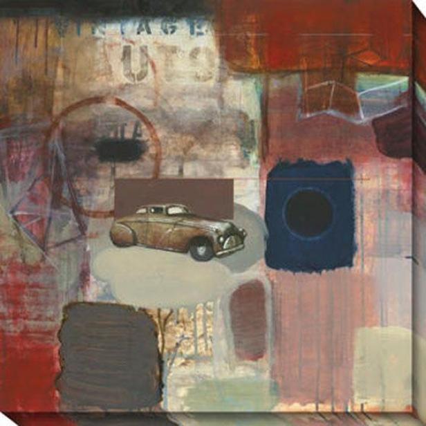 """""""vintage Auto Canvas Wall Art - 40""""""""hx40""""""""w, Multi"""""""