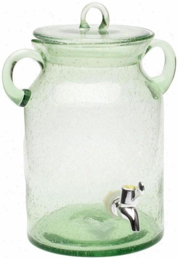 """""""vintage Beverage Jar - 10.25""""""""hx7""""""""d, Green"""""""