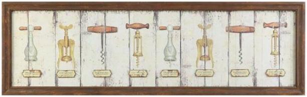 """""""vintage Corkscrew Wall Plaque - 18h X 59w X 1""""""""d, Ivory"""""""