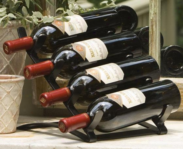 Vintage Wine Exhibit - 5.25h X9.5w X23, Antiqued