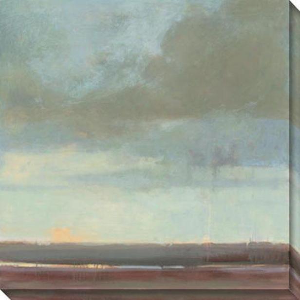 """""""viridiann Sky Canvas Wall Art - 40""""""""hx40""""""""w, Green"""""""