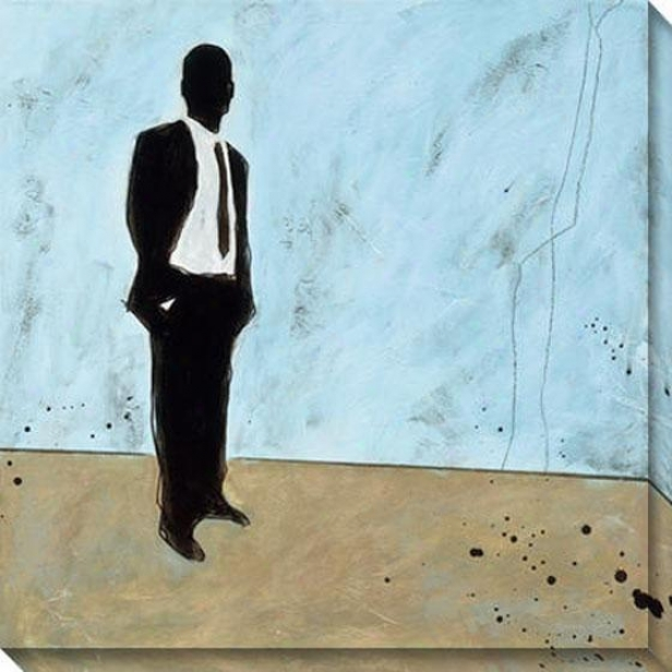 """""""waiting Canvas Wall Art - 40""""""""hx40""""""""w, Blus"""""""