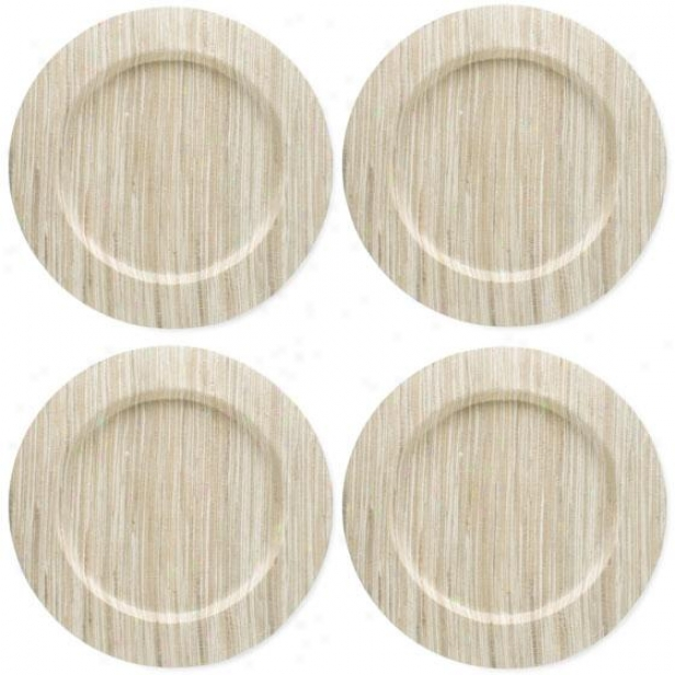 Water Hyacinth Chargers - Set Of Four, Ivory