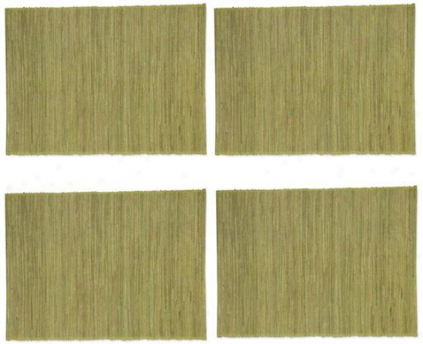 Water Hyacingh Placemats - Set Of Four, Green