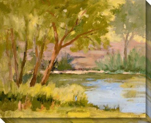 Waterford Ii Canvas Wall Art - Ii, Yellow