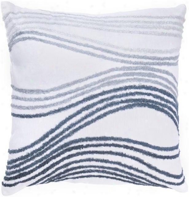 """waves Decorative Pillow - 18""""x18"""", Black & White"""