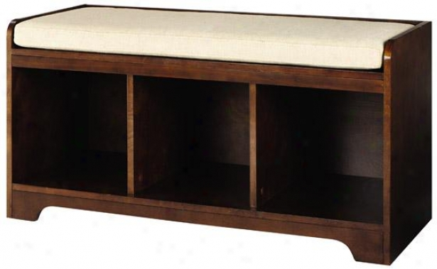 Wellman Cubby Bench - 20h X 38w X 16d, Coffee Brown