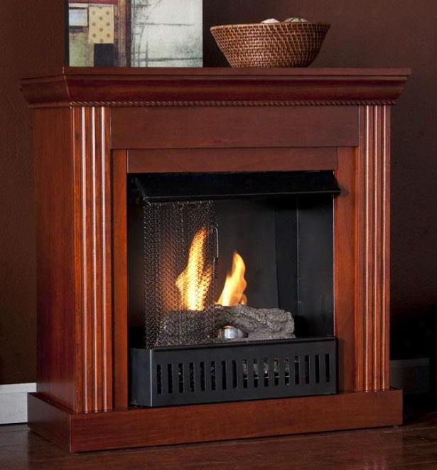 Wesley Petite Fireplace - Gel Fireplace, Maroon