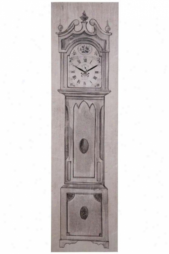 """west Harbor Canvas Wall Clock - 17.37x1.62x65""""h, Black"""
