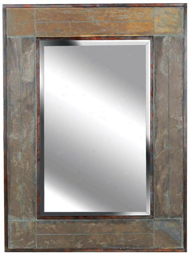 """white River Wall Mirror - 38h X 28""""w, Beige"""