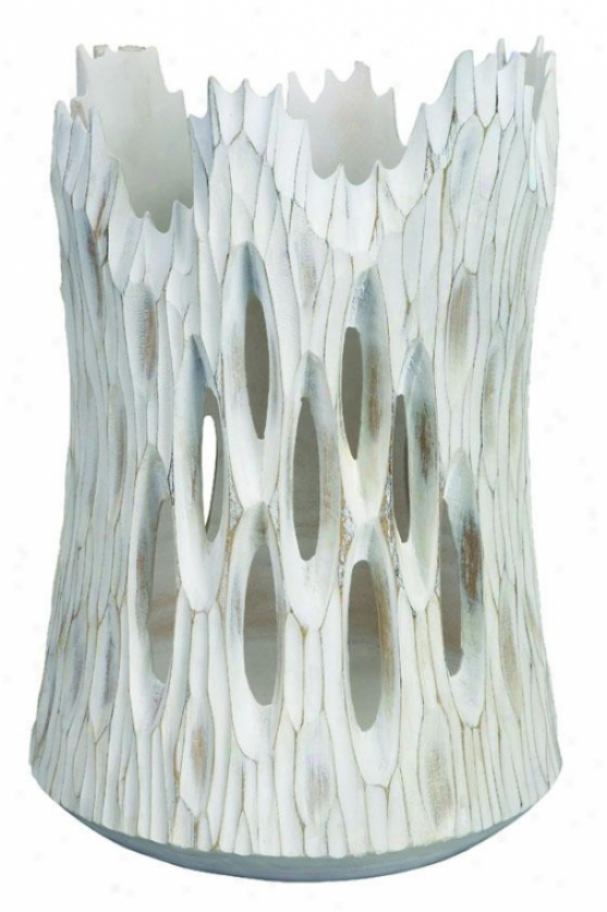 """whitestone Vase - 16""""hx10""""w, White"""