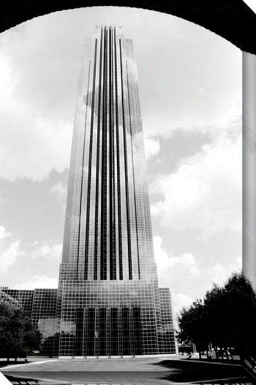 """williams Tower Canvas Wall Art - 32""""hx48""""w, Black"""