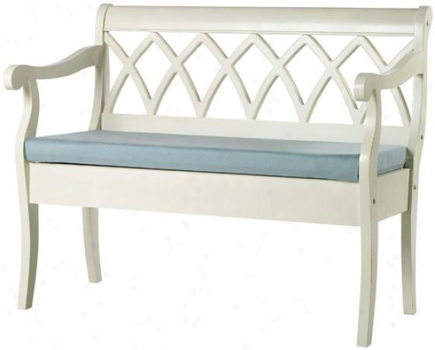 """windowpane Storage Bench - 43""""wx23""""dx35""""h, Ant Ivory W/sky"""