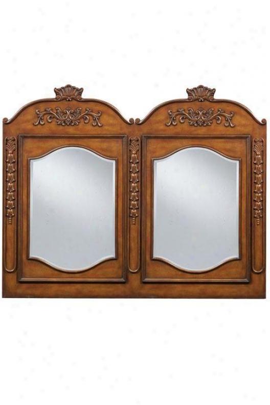 """""""winslow Double Mirror - 58""""""""w, Oak"""""""