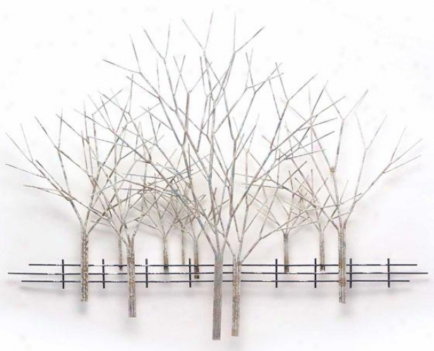 Winter Orchard Wall Sculptue - 54hx41wx4d, Gray