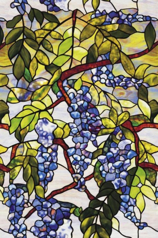 """""""wisteria Stained Glass Window Film - 36h X 24""""""""w, Blue"""""""
