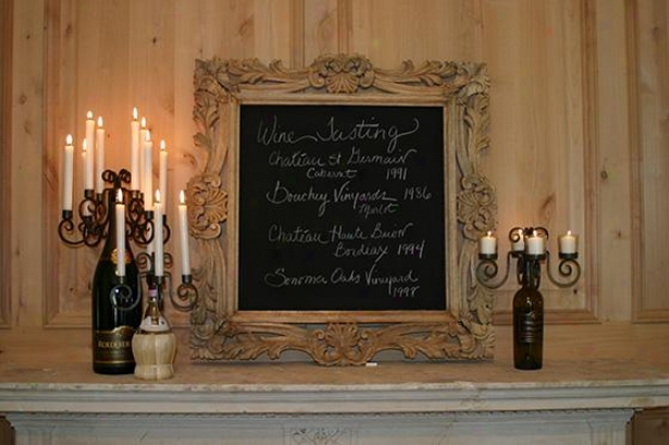 Wood Framed Chalkboard - 34hx34w, Unaffected Wood