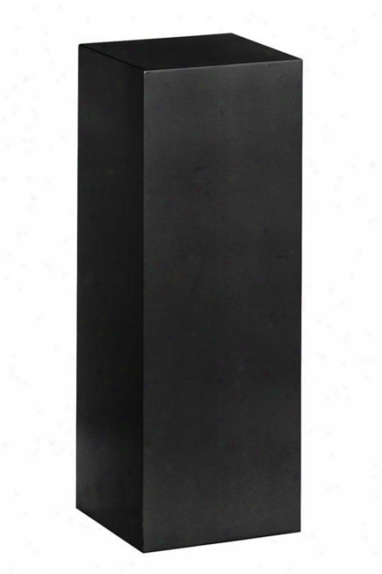 """wood Square Pedestal - 30""""h, Black"""