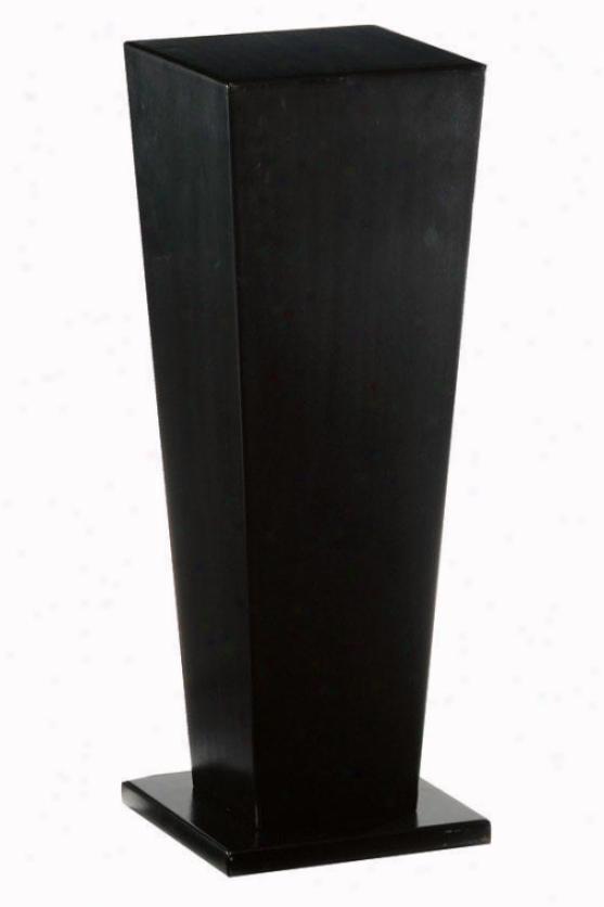 """""""wood Tapered Pedestal - 30""""""""h, Black"""""""