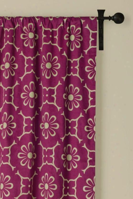 World Beat Burgundy Curtain Panel - 42hx84w, Burgundy Maroon