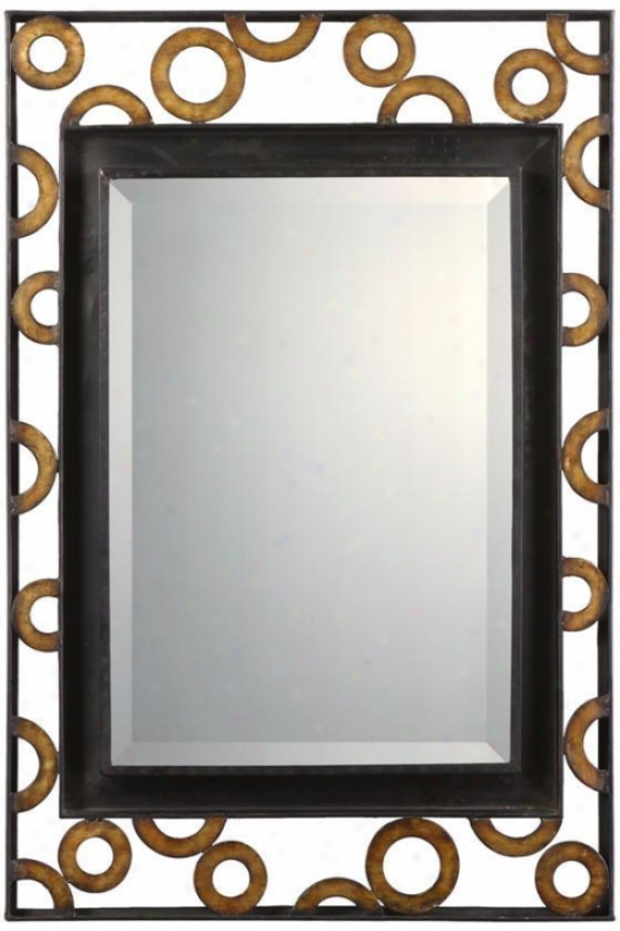 """zaid Mirror - 38""""hx25""""w, Black"""