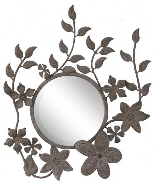 Zana Mirror - 22h X 18.5w, Tan