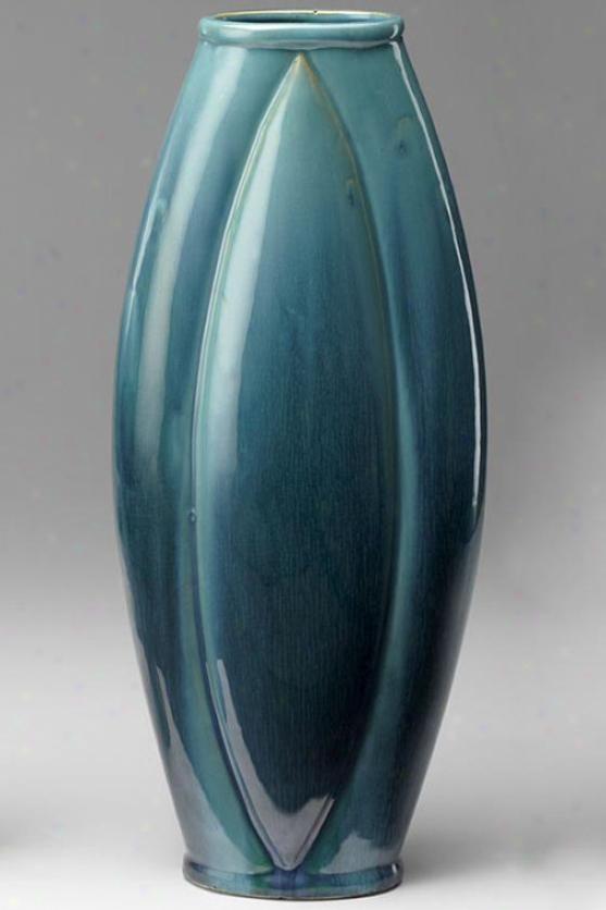 Zimmerman Vase - 19hx7.75w, Blue