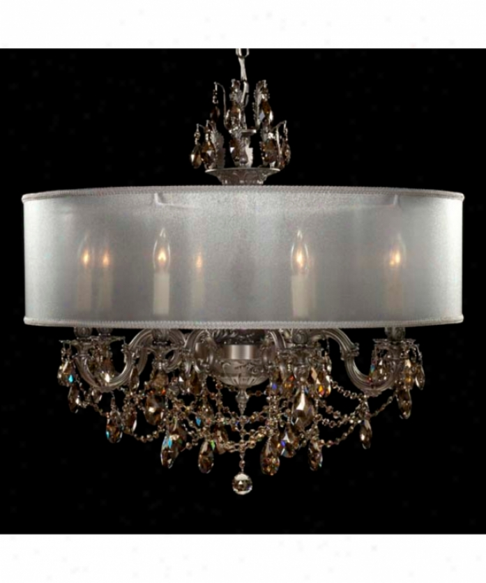 American Brass And Crystal Ch6562-a-13s-tb-ll Llydia 10 Light Single Tier Chandelier In Aged Bronze Satin With Clear Precision Pendalogue Crystal