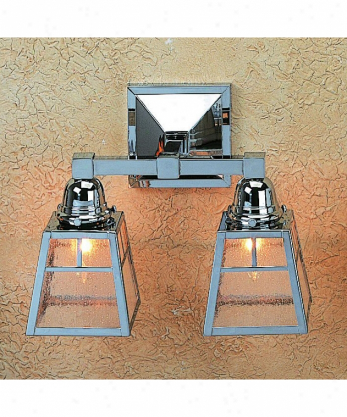 Arroyo Craftsman As-2t-am-vp A-line 2 Light Bath Vanity Light In Verdigris Patina With Almond Mica Glass