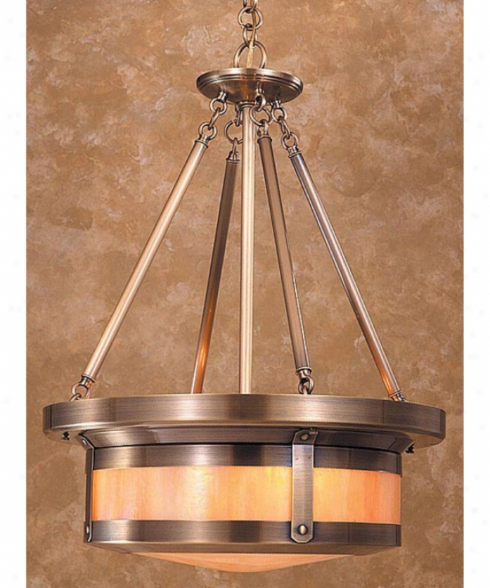 Arroyo Craftsman Bcmh-20-wo-vp Berkeley 4 Light Ceiling Pendant In Verdigris Patina With White Opalescent Glass